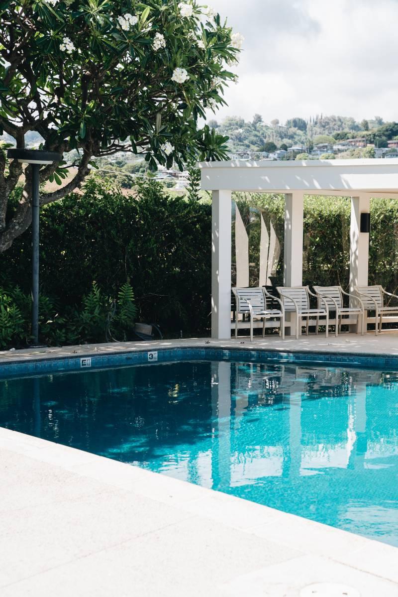 midcentury pool