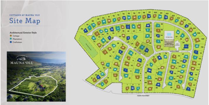 Mauna 'Olu Estates development site map