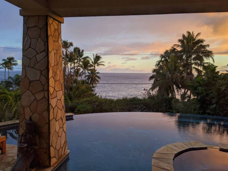 big island ocean view pool