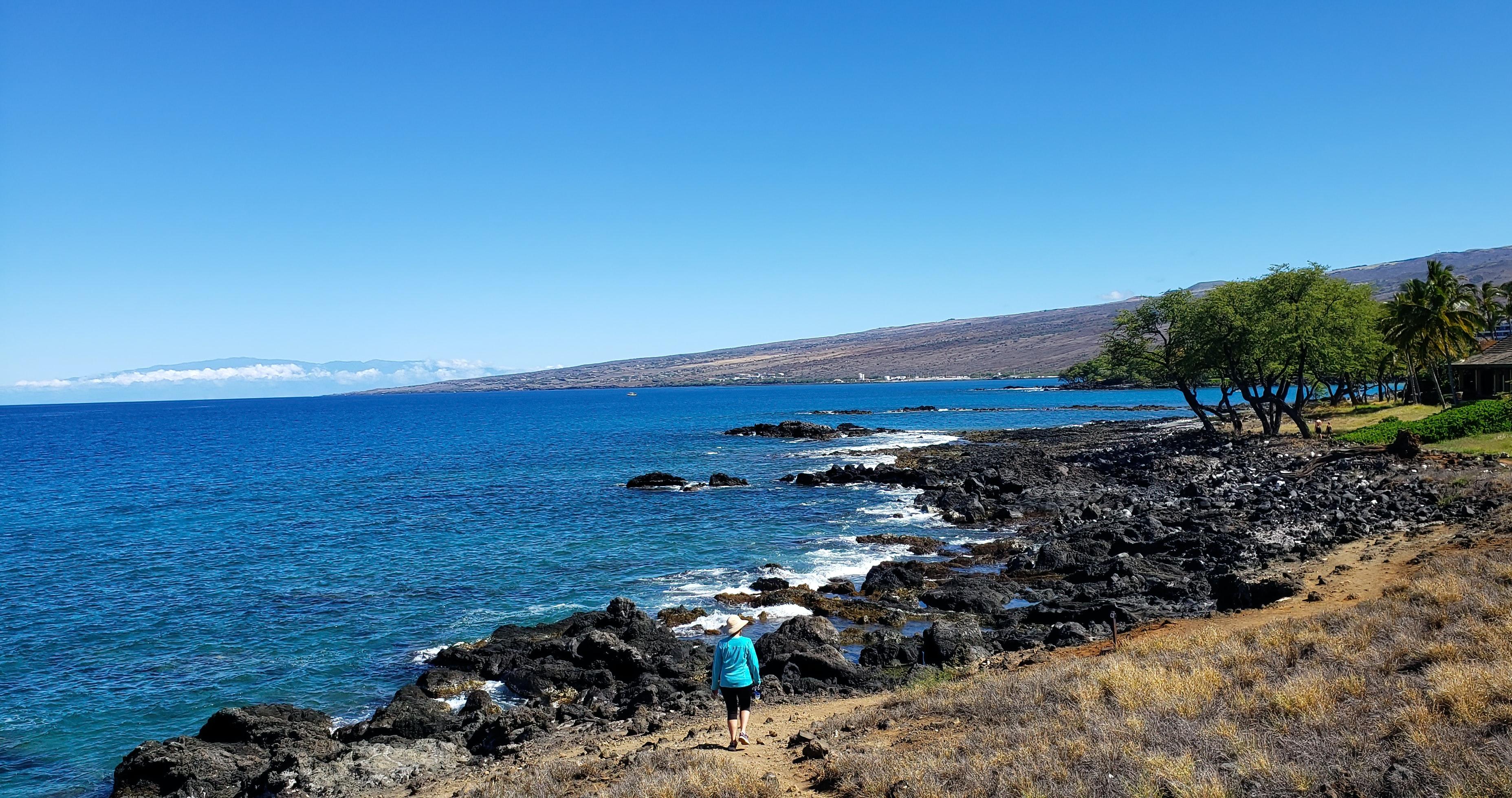 walking on the beach on the big island