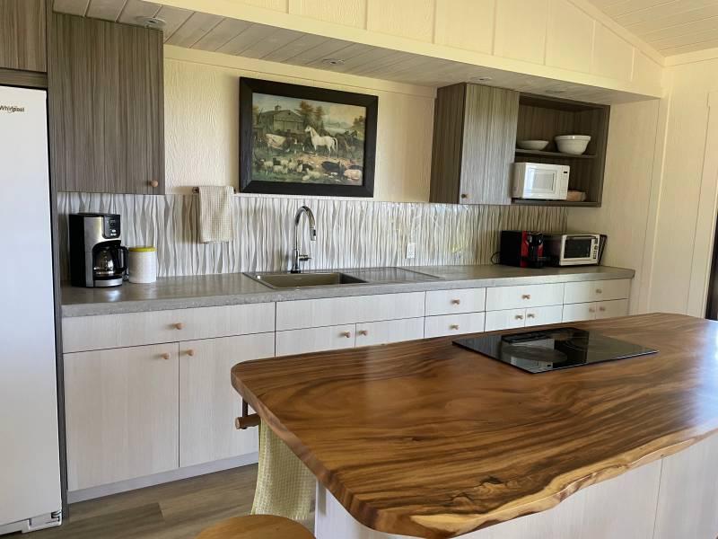 Farmhouse kitchen North Kohala horse property for sale