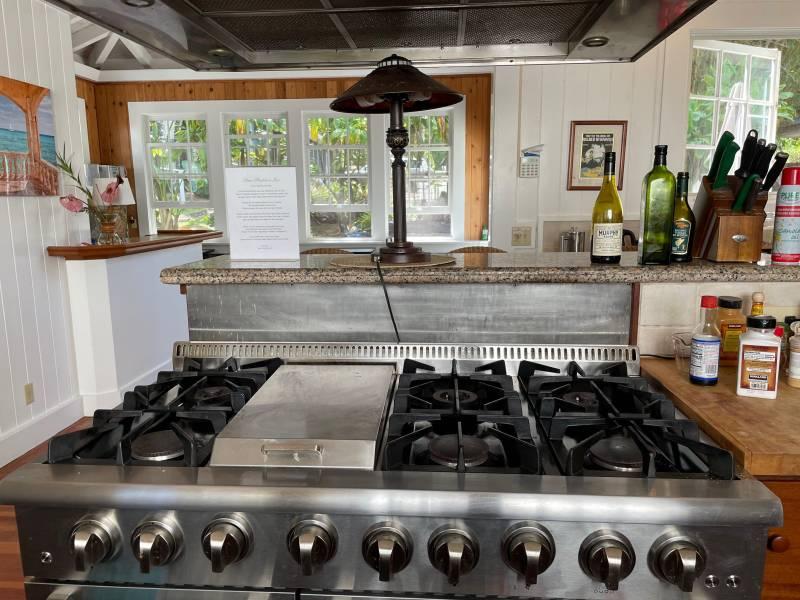 Renovated kitchen in Hawi Plantation Estate