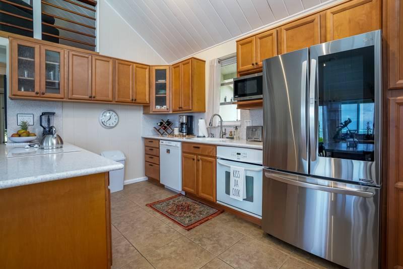 kitchen has updated appliances