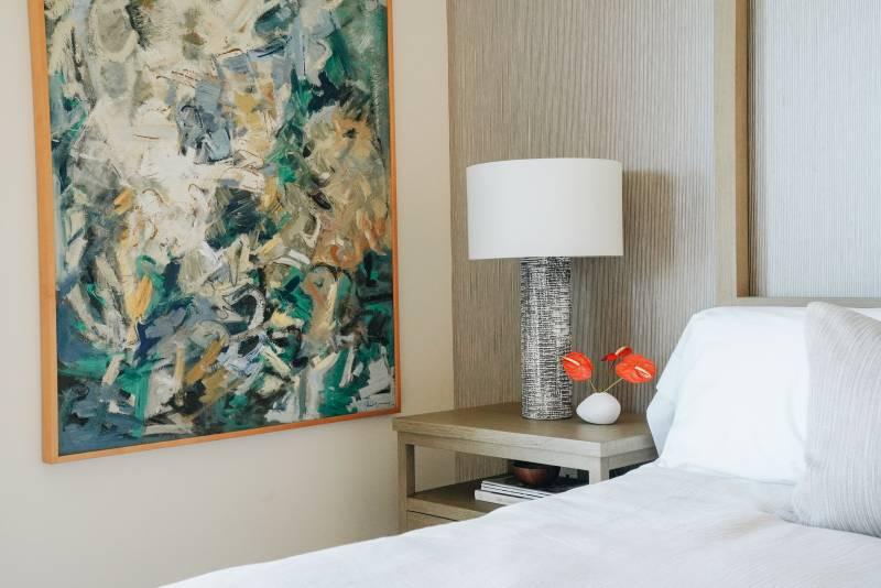 art in bedroom honolulu luxury condo