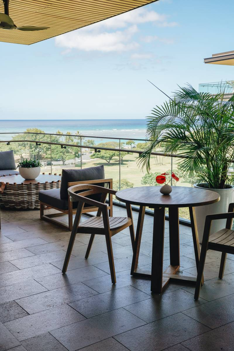 indoor outdoor living with ocean views from lanai