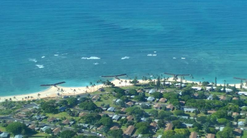 T-shaped groins were used at Iroquois Point on Oahu.