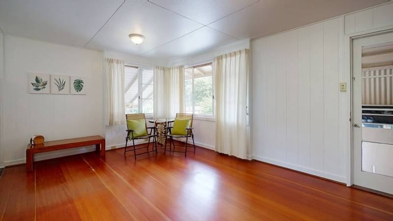 living room with table and chairs