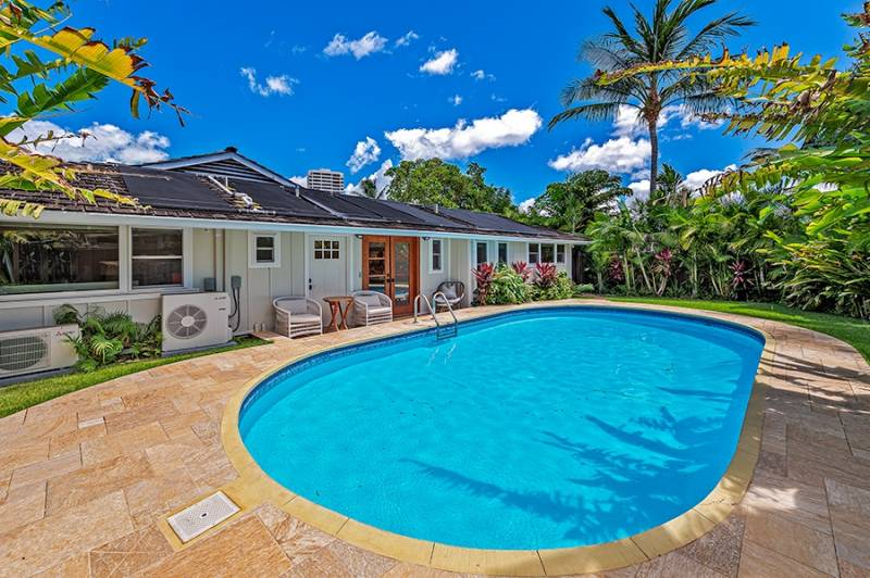 kohala oahu home with pool