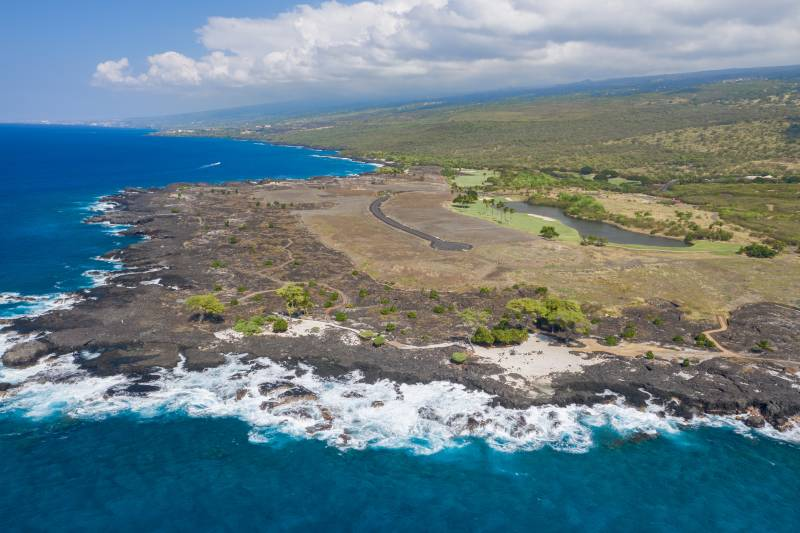 aerial view of hokulia lots for sale